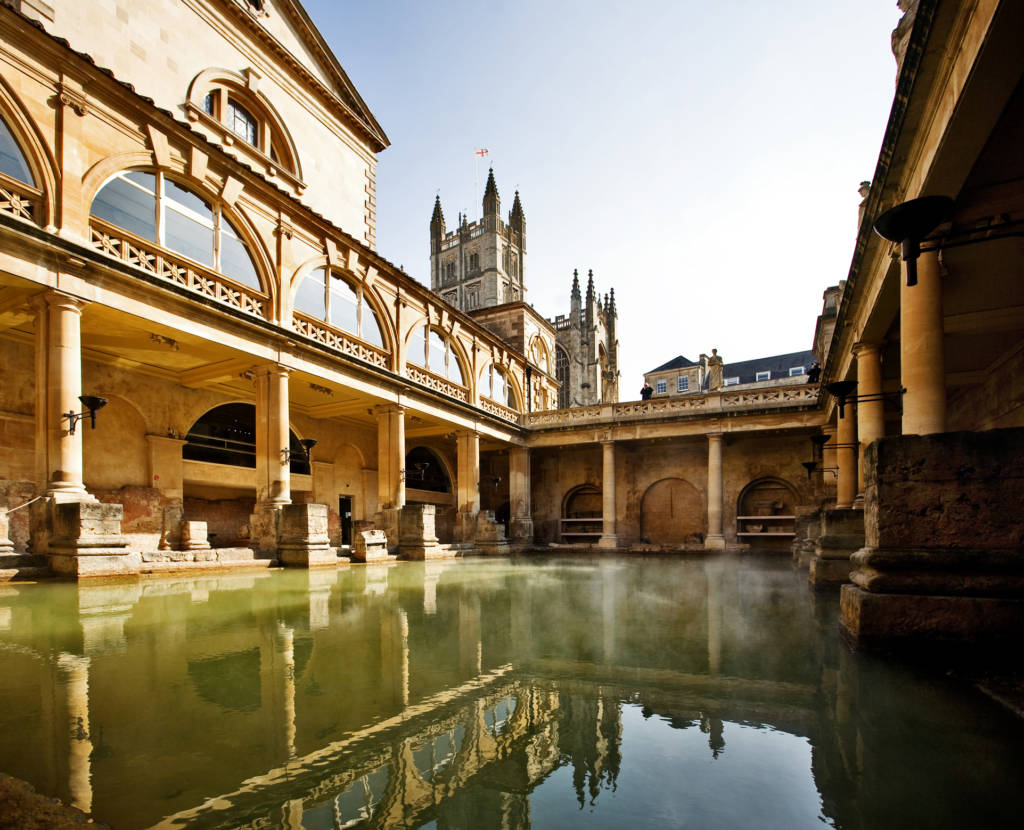 The Roman Baths, One of the oldest buildings in Bath